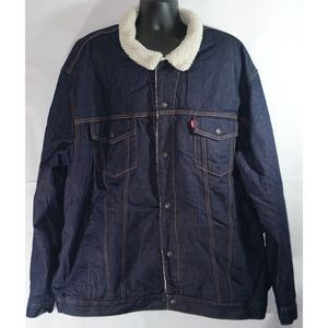 Levis Sherpa Lined Denim Trucker Jean Jacket 5XL